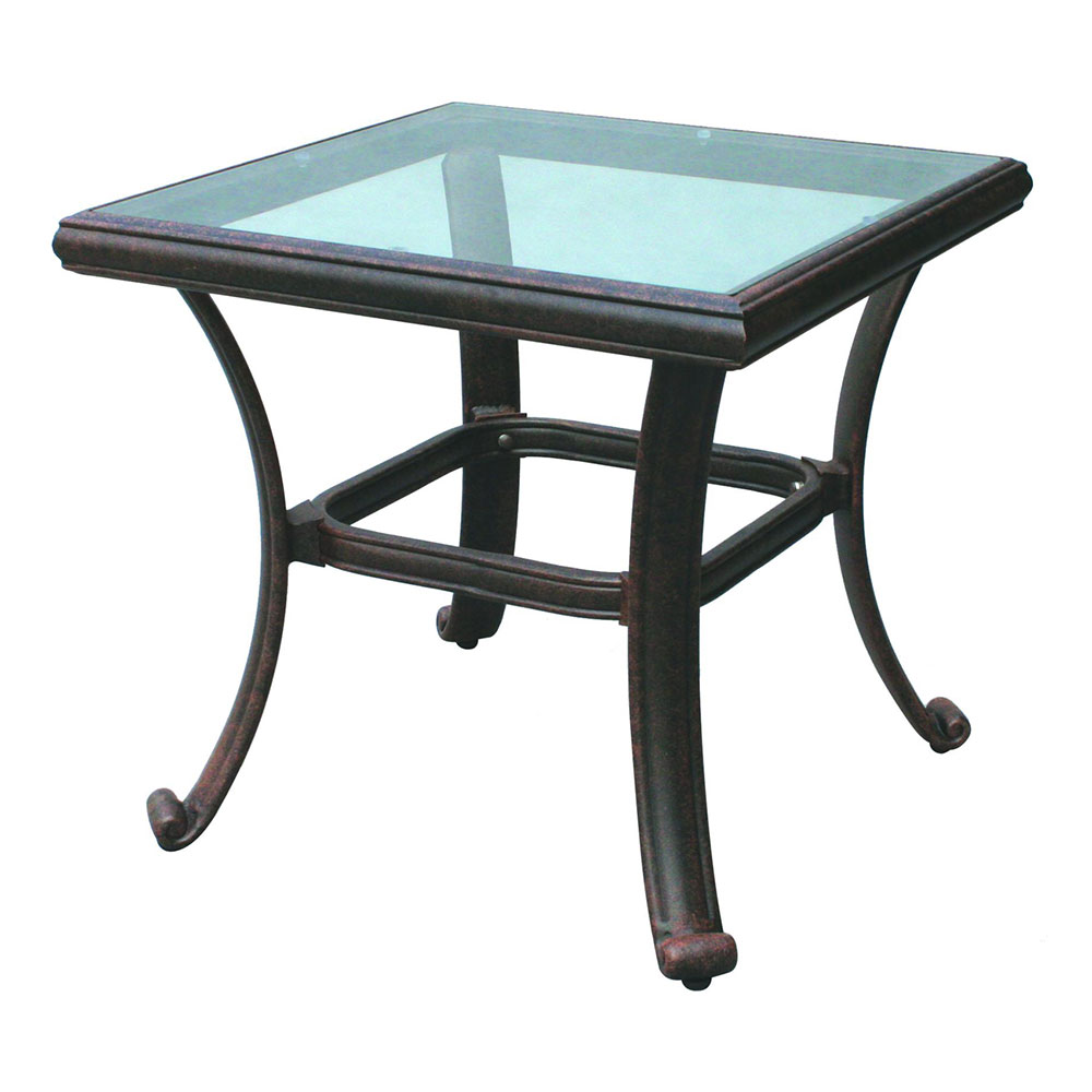 24 Inch Square Glass Top Table