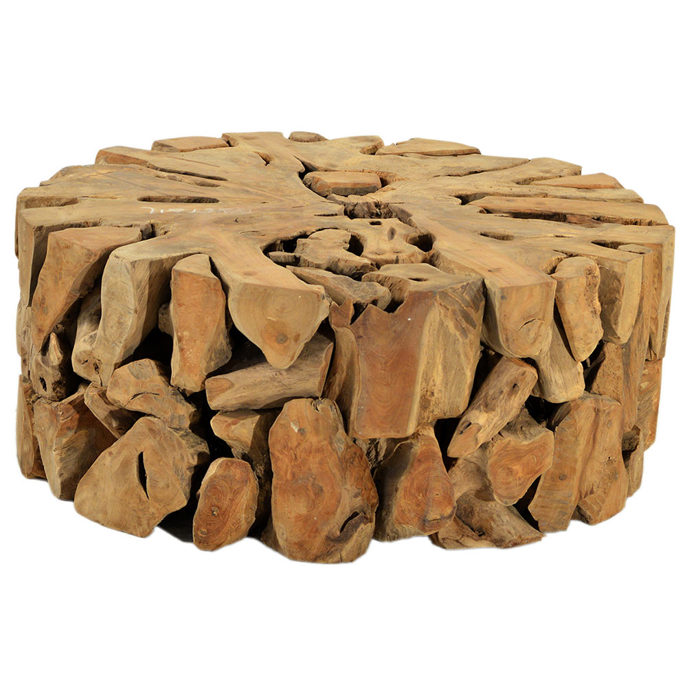 Round Teak Root Coffee Table – Top Notch Online